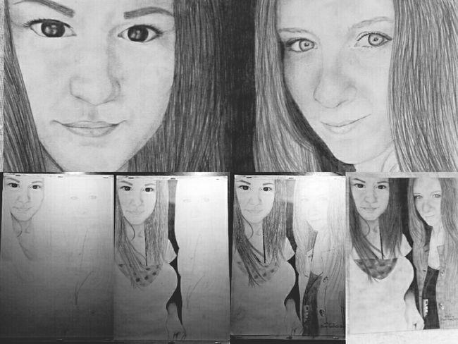 Meine beste Freundin und ich ??? Pencil Getting Inspired Drawing Fashion