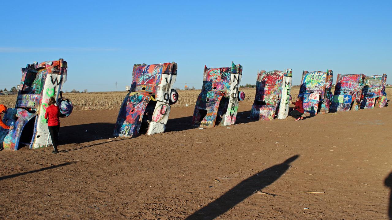 Cadillac Ranch...Amarillo, TX Art Artistic Car Day Multi Colored Outdoors Sky Travel Destinations