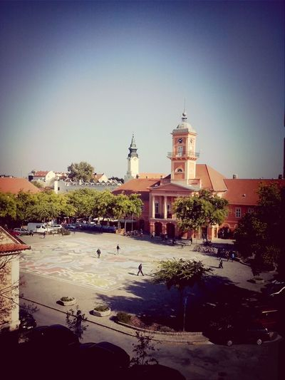 Main Square View From My School Sunny Day