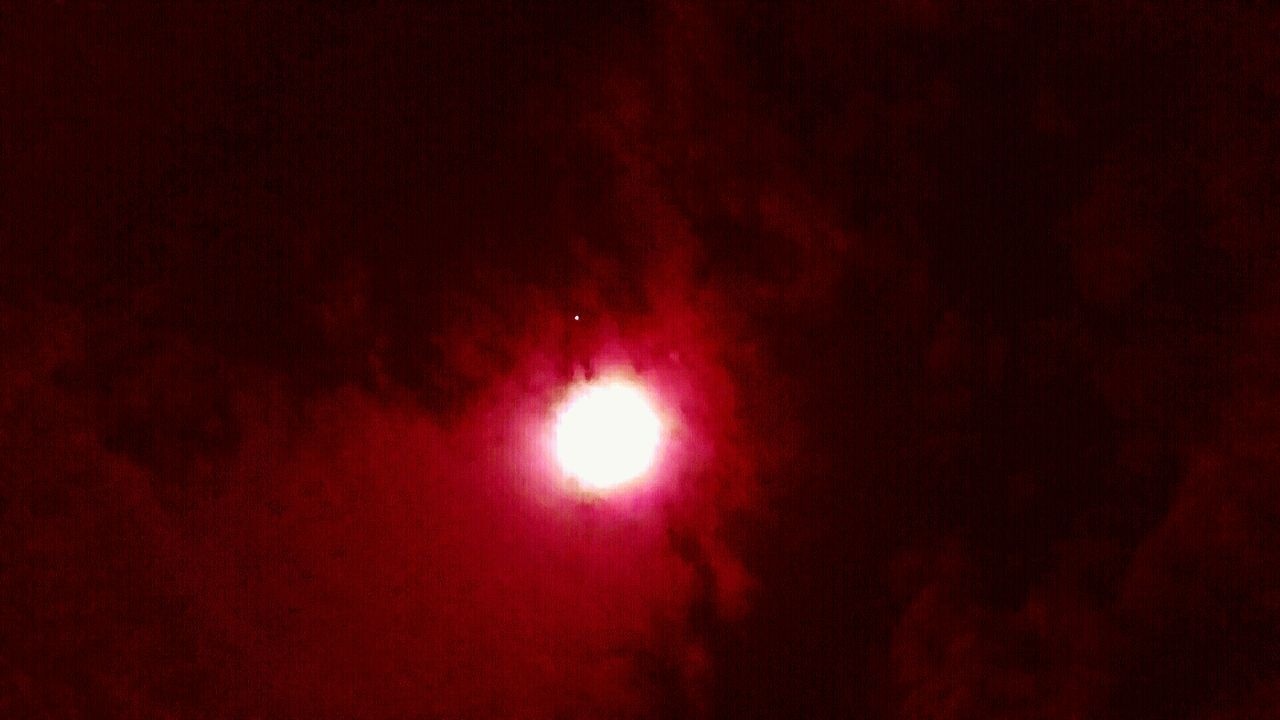 night, moon, astronomy, nature, scenics, beauty in nature, space, red, illuminated, outdoors, solar eclipse, low angle view, no people, space exploration, sky, crescent