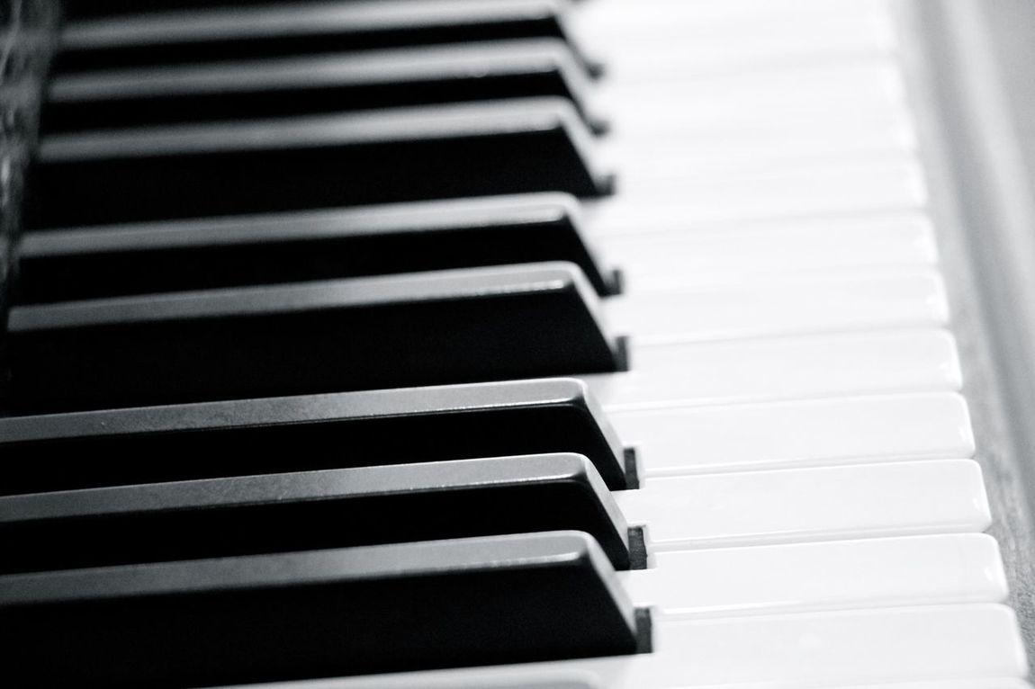 Piano Black & White Playing Piano Keys Sound Of Life Piano Keyboard  Closeup
