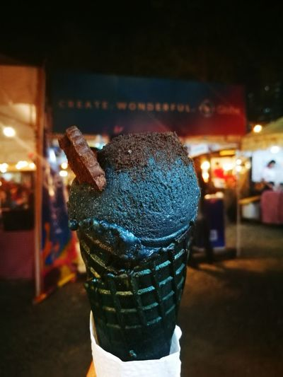 Black Sesame Ice Cream is ❤ Black Icecream P9photography Cebu City, Philippines