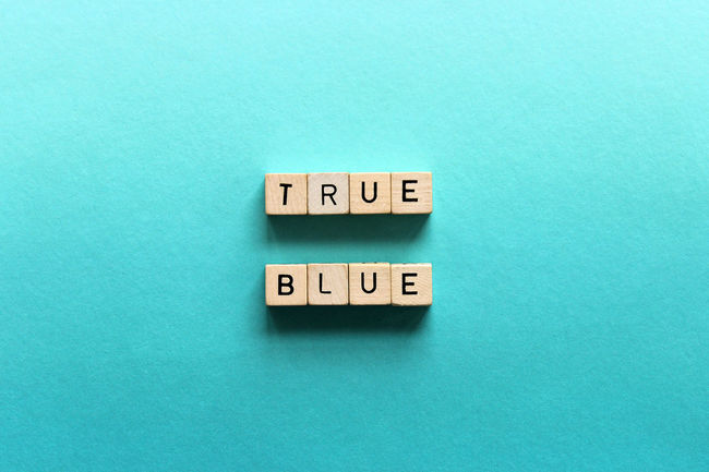 True Blue Blue Communication Concept Faithful Friendship Loyalty No People Phrases Text True Blue Truth