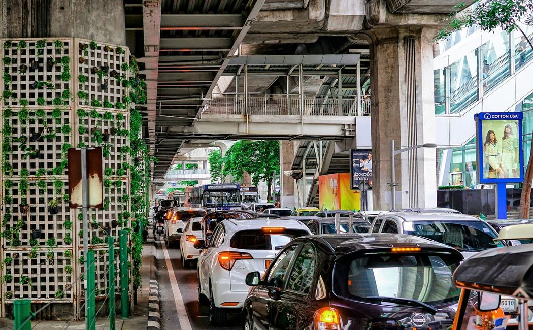 Transportation Car Mode Of Transport Land Vehicle Industry No People Indoors  Architecture Day Car Plant thailand traffic