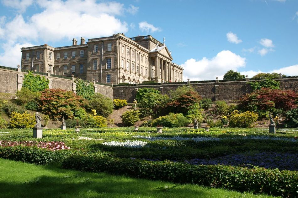 Architecture Garden History Formal Garden Built Structure Building Exterior Sky Plant Low Angle View Historical Building Impressive Building Impressive Locations Gardens Flowers at Lyme Park Cheshire