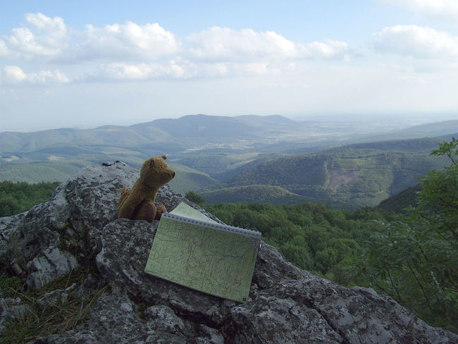 Bükk Clouds Find A Way Funny Map Mountains Teddybear Tourist Map Toy Adventure Buddies