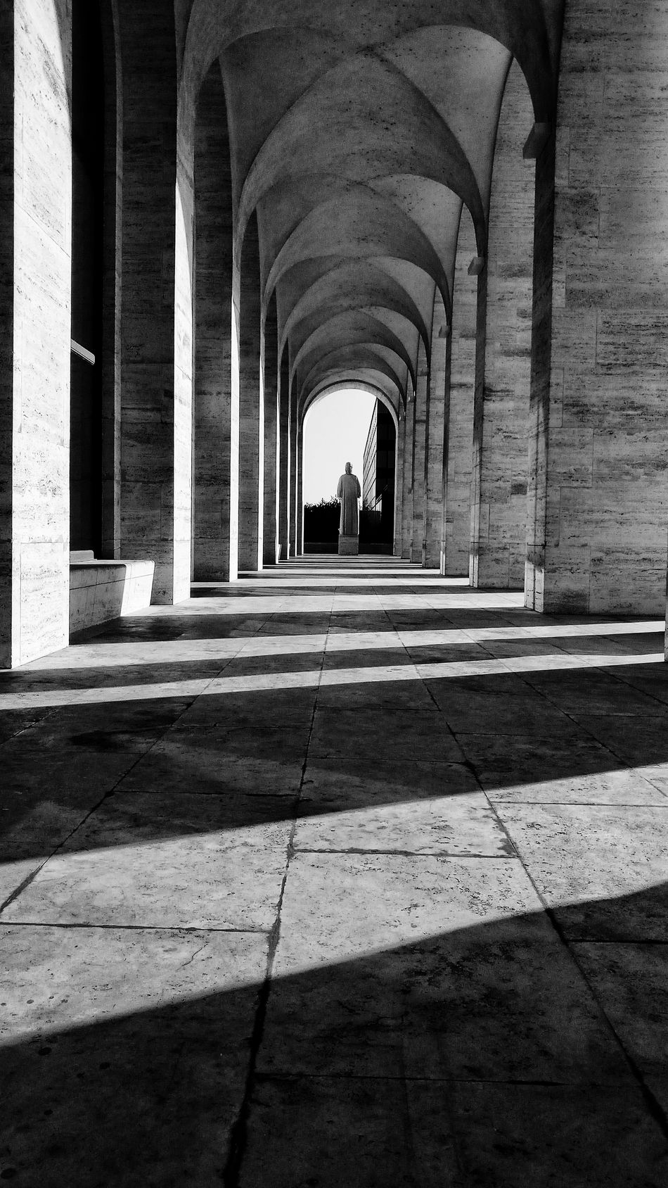 Monochrome Italy Roma Rome Statues Day Architecture Outdoors No People Low Angle View Concrete Floor Built Structure Architecture Architectural Column Arch The Way Forward History Indoors