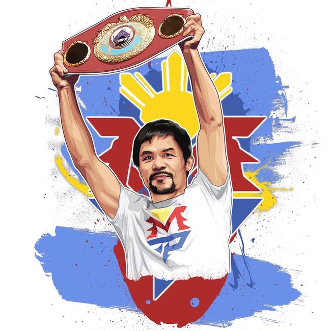 New #PACQUIAO vector image just done for a fan for a t shirt. Like it ? ;) Pacquiao