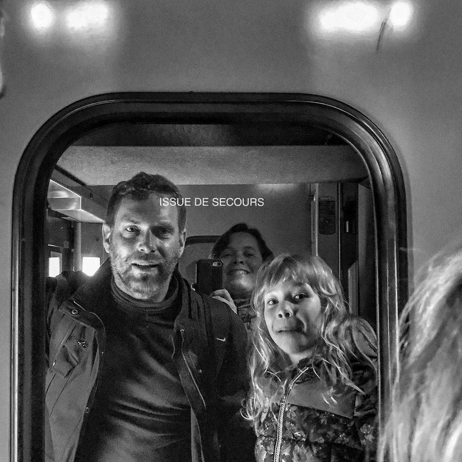 TGV Family Portrait 😀💕 Photooftheday Reflection Togetherness Looking At Camera Transportation Massy End of Holidays IleDeFrance France Moment EyeEm IPhoneography Bnwmood Bnw Blackandwhite Mobilephotography IPhoneography Iphonephotography Iphoneonly Outofthephone Streetphotography Snapseed