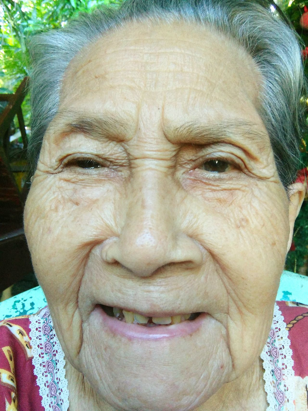 Close-up Looking At Camera Portrait Happiness Human Face Old Smiling Front View Adult Smile Grandma Old Age Woman Old Age Face Wrinkled Face 92 Years Happy Face Contented Life White Hair Old Face Old Happy Lady