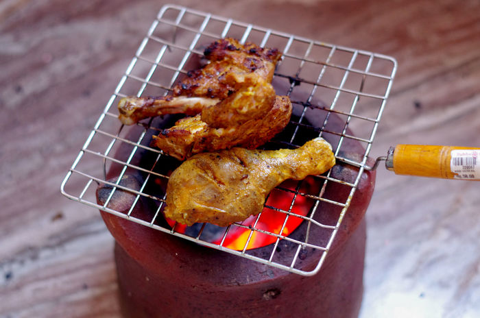 Chicken Masala Smoking Barbecue Barbecue Grill Chicken Leg Chicken Tandoori Chicken Wing Close-up Day Food Food Photography Freshness Indoors  Indulgence Meat No People Preparation  Ready-to-eat Food Stories Food Stories