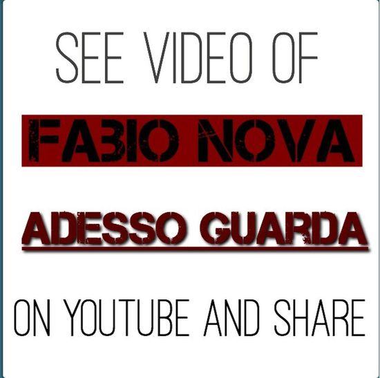 Fabio Nova ~ Adesso guarda [See the video on YouTube and Share]✔️ FabioNova Music Love Rock That's Me Check This Out Hi! Hanging Out Taking Photos Hello World