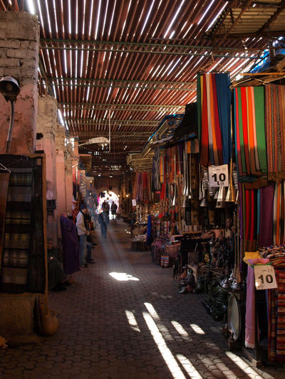 Marrakesh SCARFS Day Illuminated Market Olympus E420 People Souks Store Sunbeam