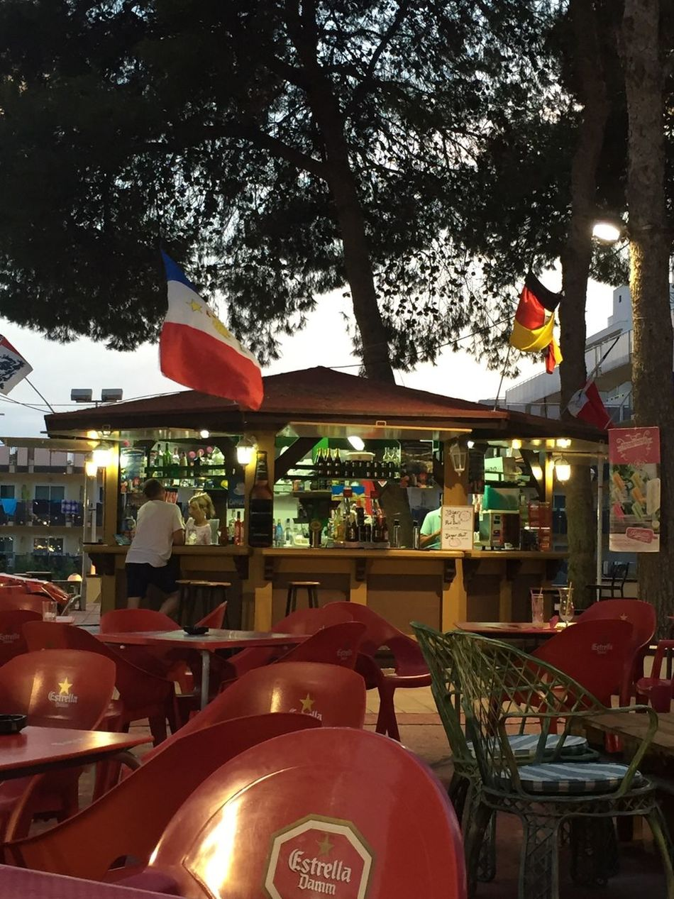 Spain, Salou || Relaxing Taking Photos Enjoying Life Europe Summertime Salou Summer Love Check This Out Eating Drinking Bar Barcelona Pizza Sunset First Eyeem Photo Spanish SPAIN Chairs Flags