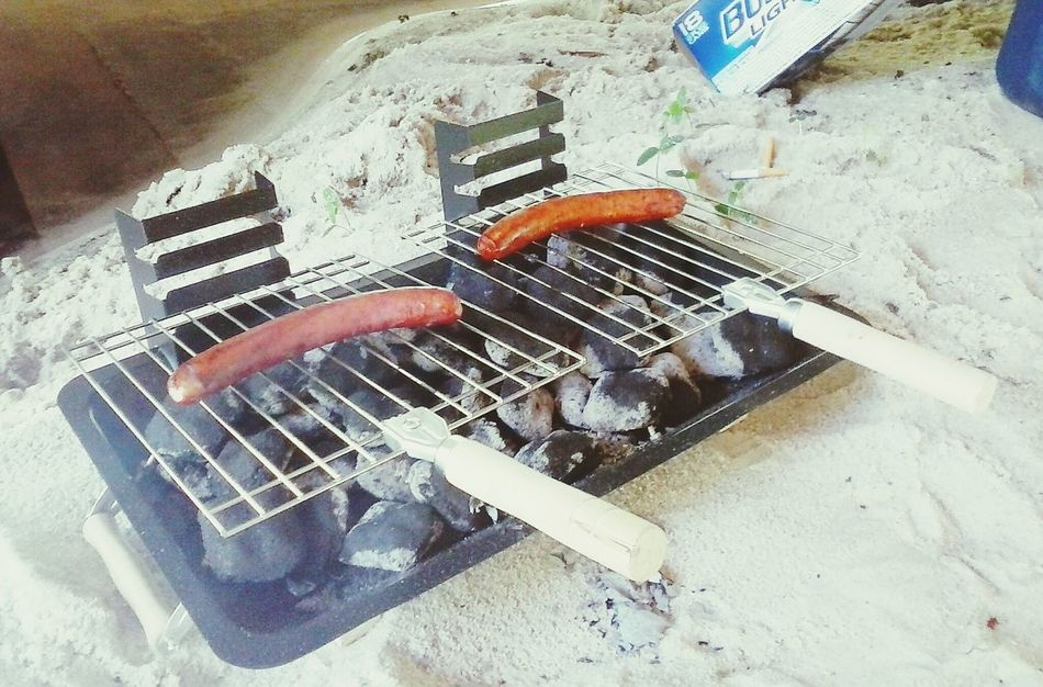 Got this little Grill at the Dollar Store for $8.00. Great Deals Grilling Sausages Ochlawaha Creek Lake Life Country Life Drinking Lovely Weather Beautiful Day
