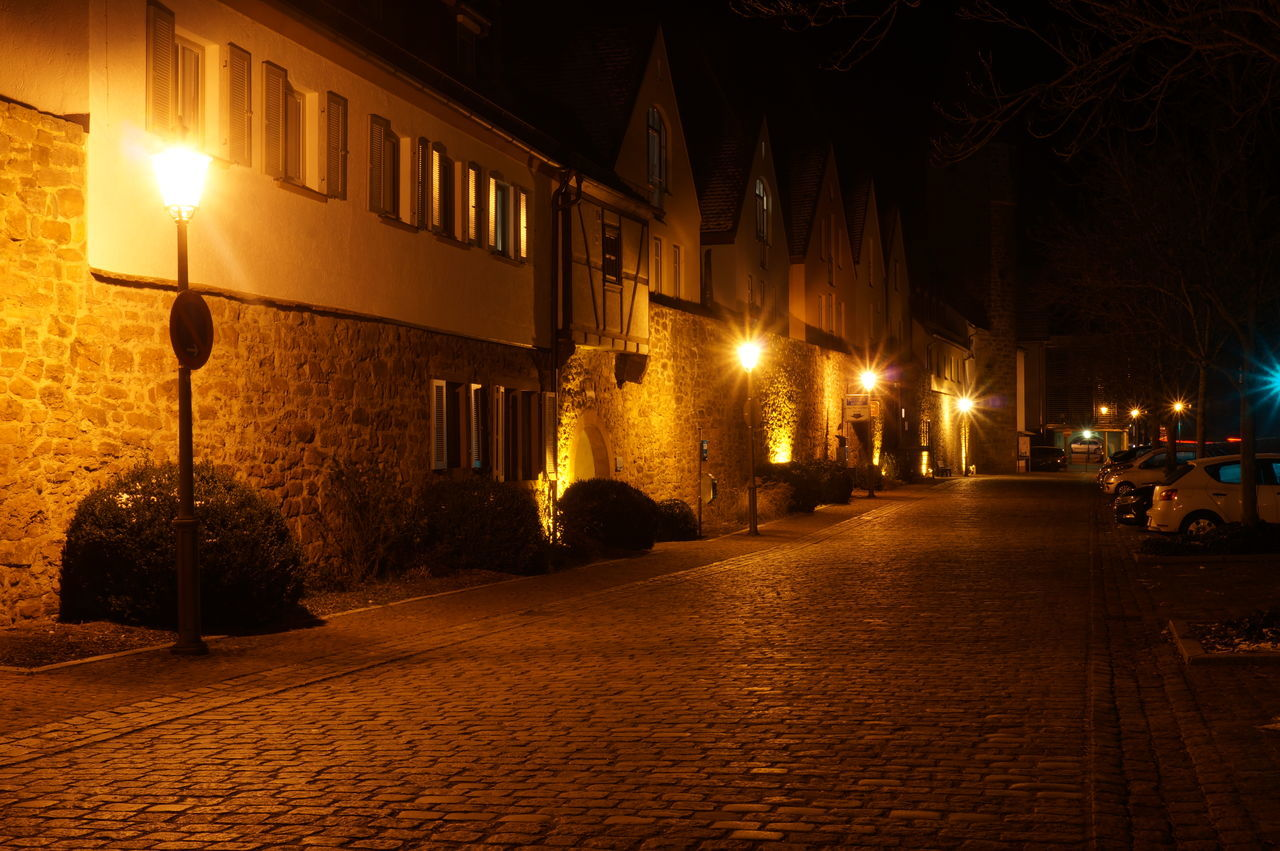 Night Street Light City No People Outdoors Old Buildings Old Old Town Main Gemünden am main