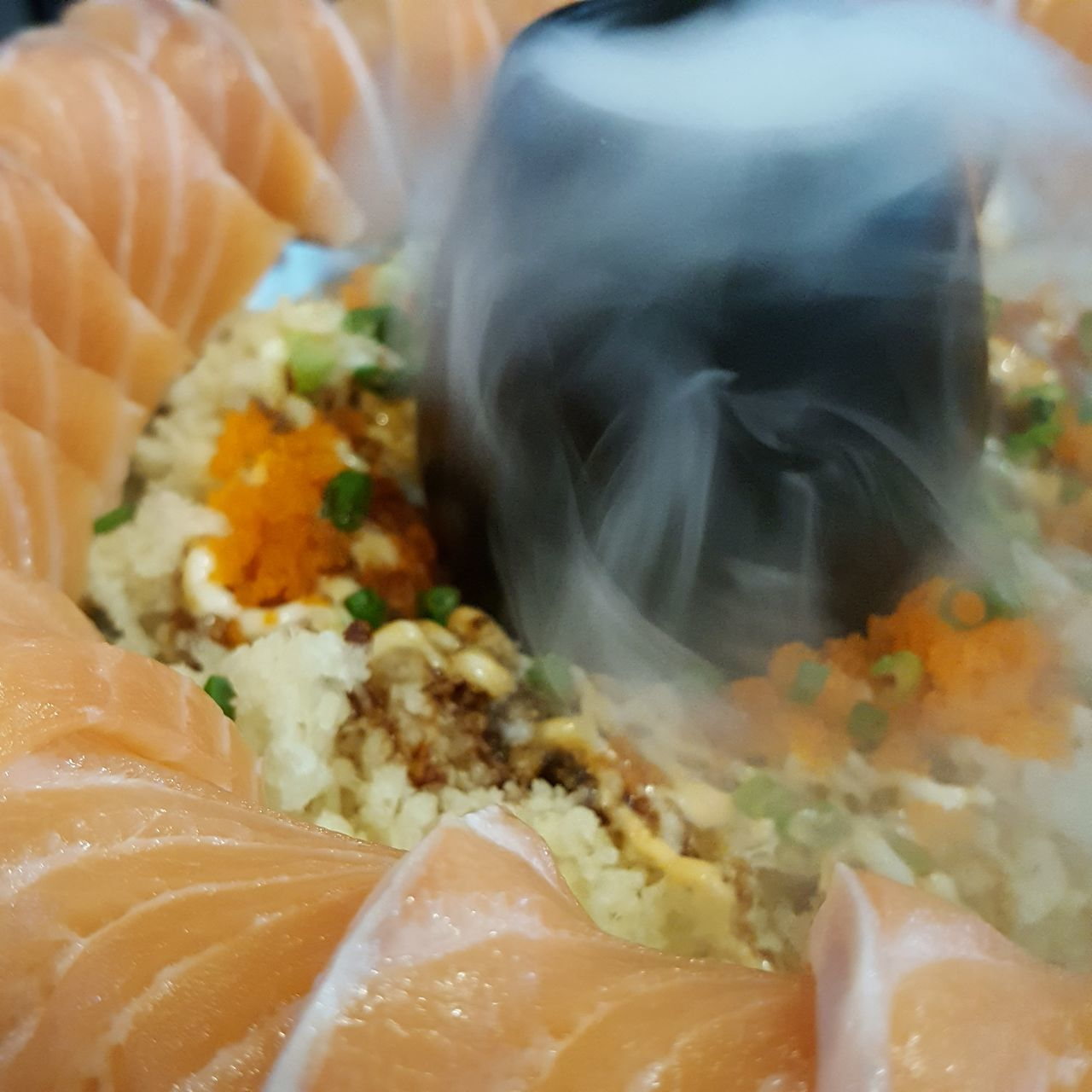 Food SalmonLove Salmon Dish Animals In The Wild Close-up No People Ready-to-eat Salmon Sashimi Salman