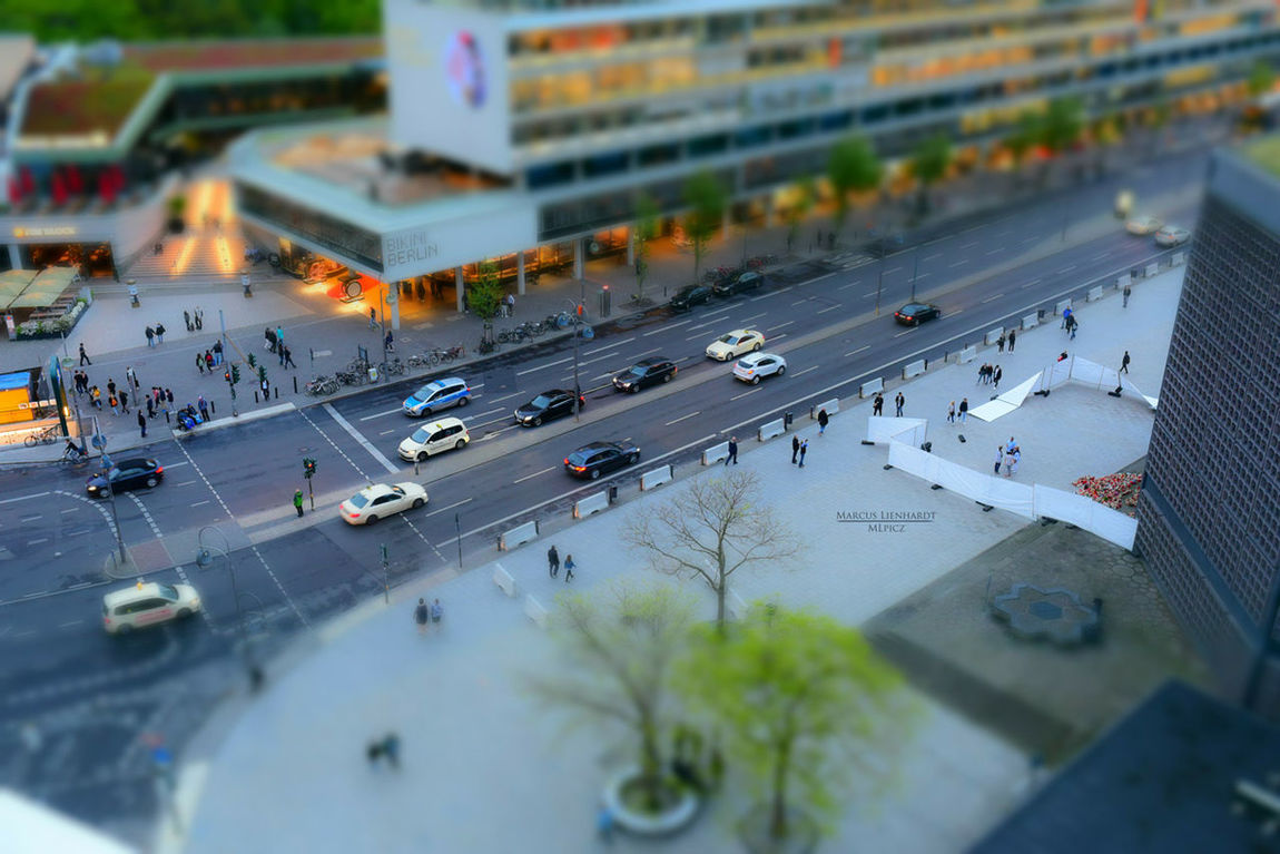 Tilt-shift Cityscape Transportation Road Car Street Outdoors City Berlincity High Angle View Architecture Building Exterior Day No People Nature First Eyeem Photo