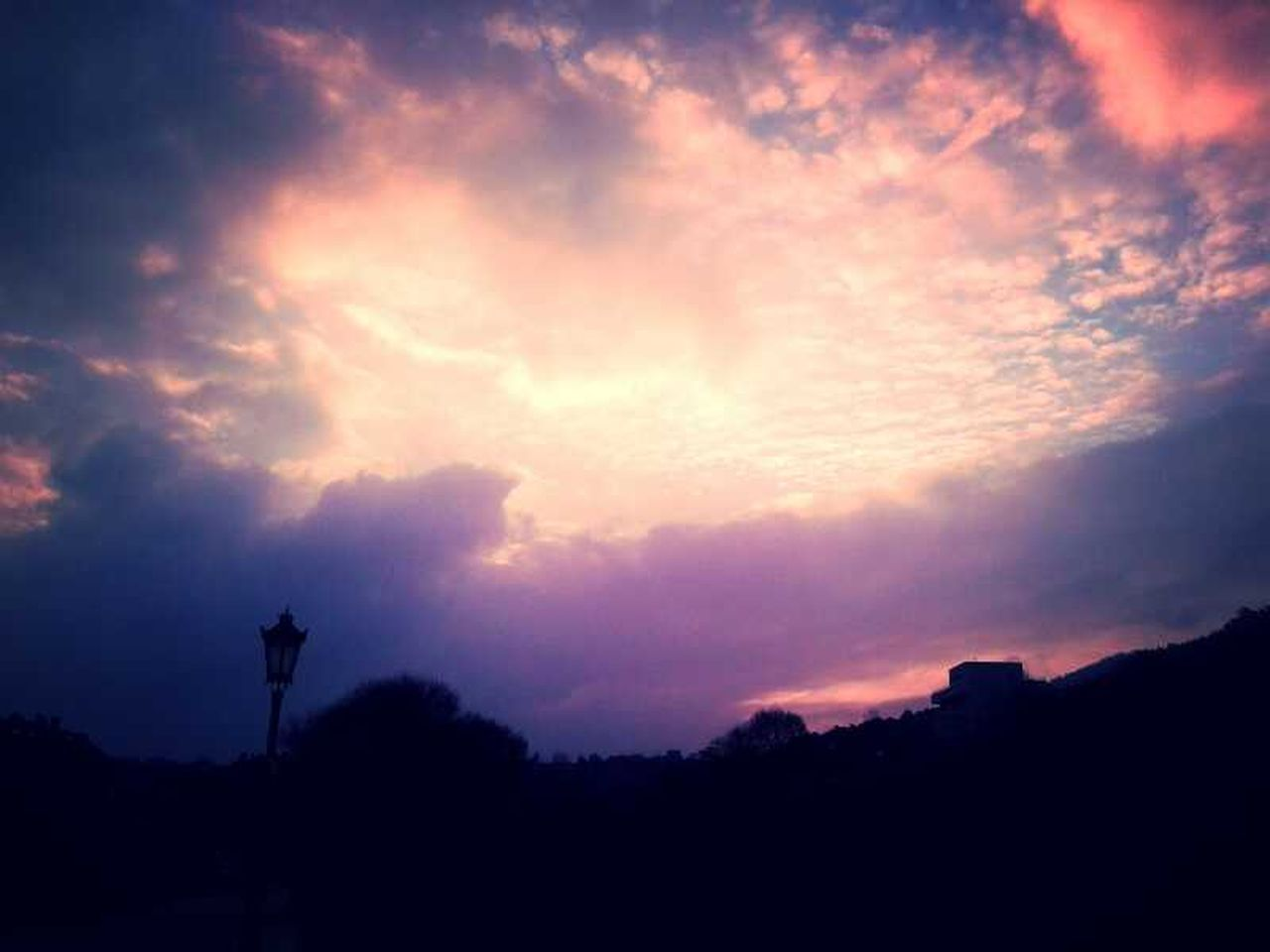 silhouette, sunset, cloud - sky, no people, sky, outdoors, tree, nature, night, scenics, beauty in nature