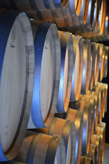 Casks Cellar In A Row No People Repetition Wood - Material