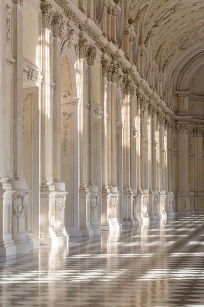 Architectural Column Architecture Built Structure Colonnade Cultures Day Indoors  Interior Decorating Italy Light And Shadow No People Royal Palace Travel Travel Destinations Turin UNESCO World Heritage Site