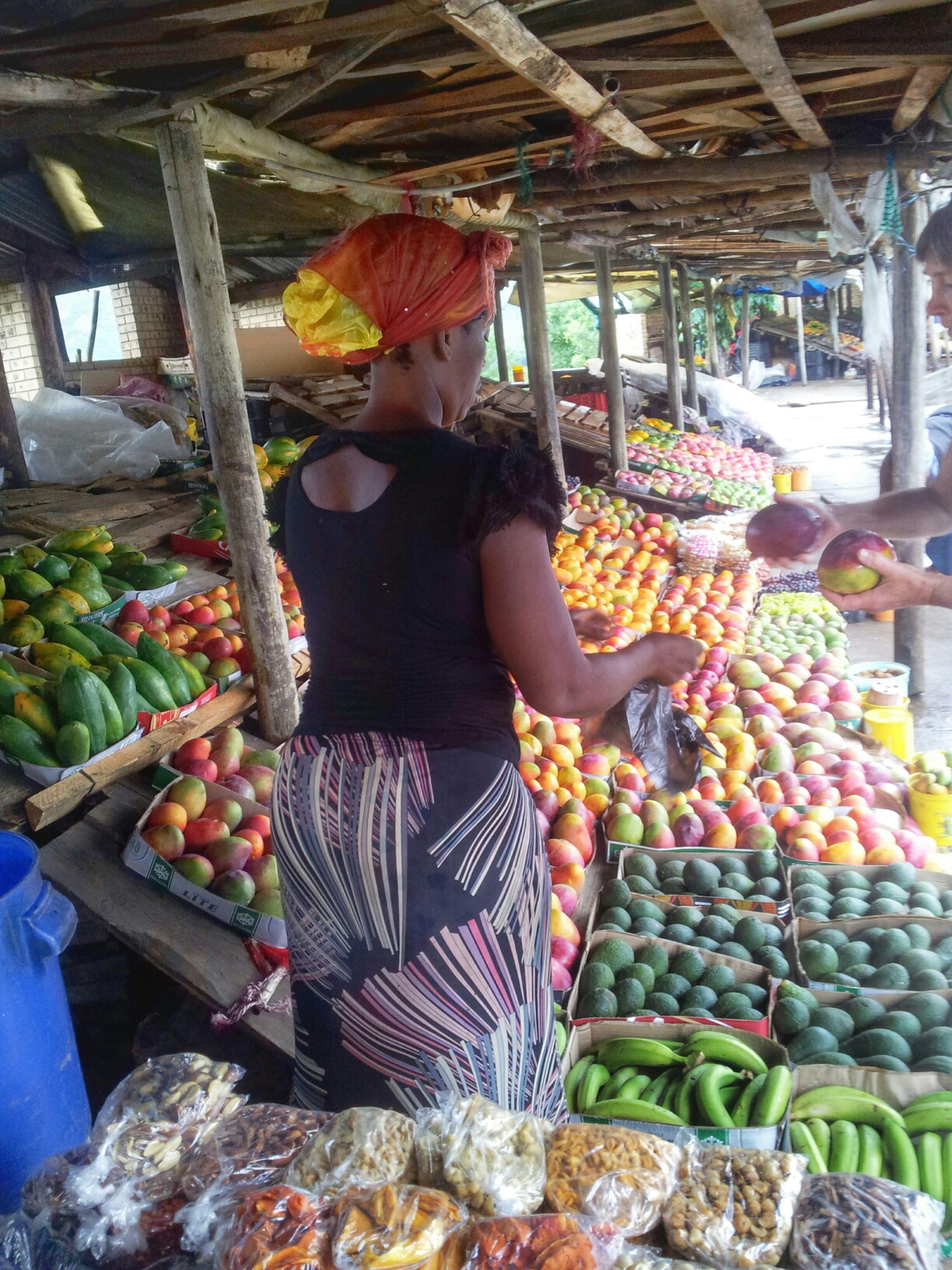 Food Stall fruit sellers outside Kruger Park.