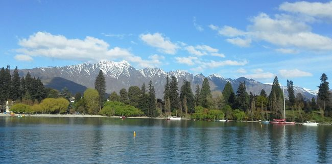 Lake Wakatipu Queensrown NZ Beauty In Nature Blue Cloud Cloud - Sky Day Growth Idyllic Lake Landscape The Great Outdoors - 2016 EyeEm AwardsMountain Range Nature New Zealand Scenery Outdoors Queenstown Nz Scenics Sky The Remarkables Tourism Tranquil Scene Tranquility Tree Vacations Water Waterfront