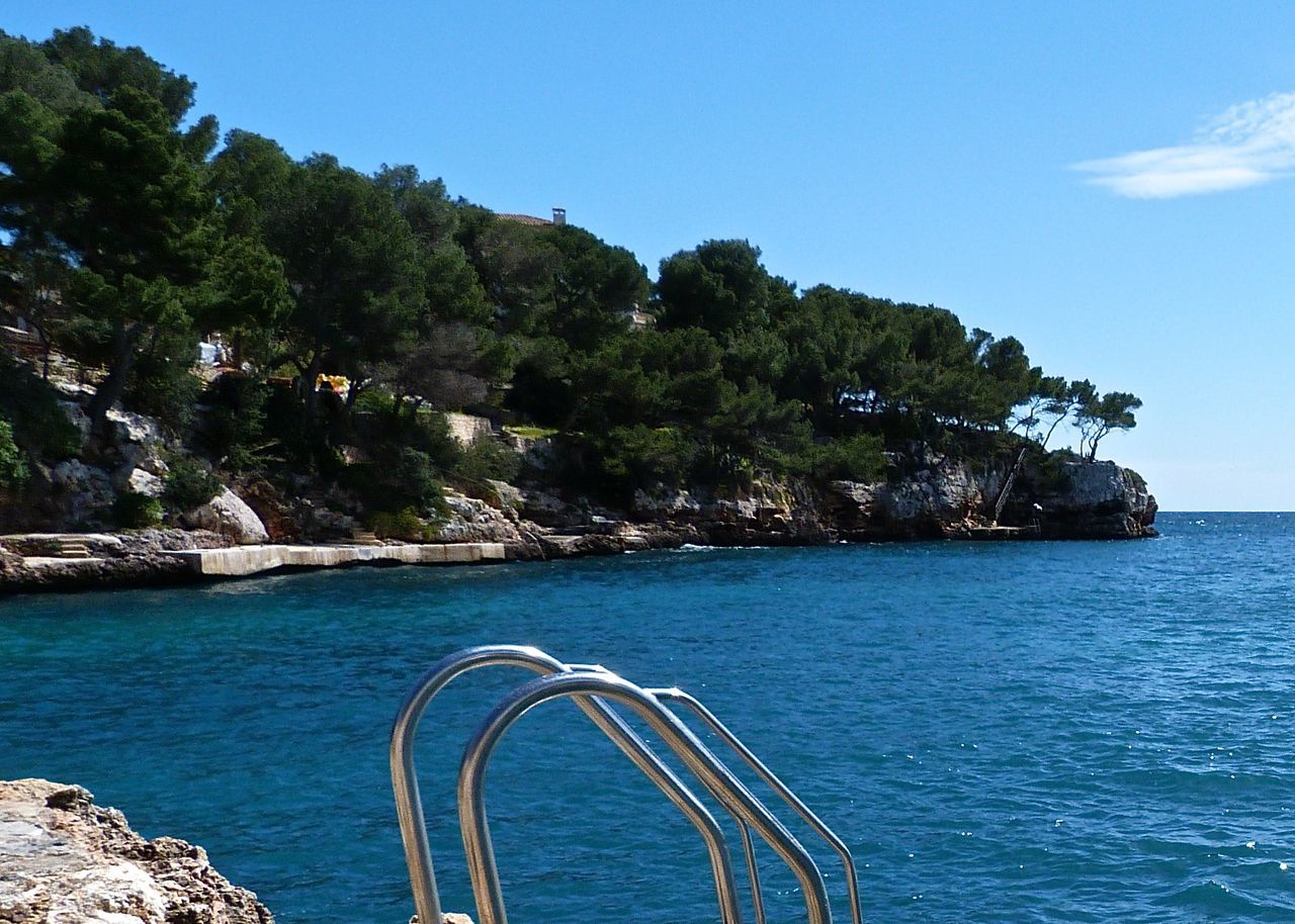 Beach Beauty In Nature Blue Fine Art Photography Getting Inspired Growth Holiday Mallorca Mediterranean Sea Nature Non-urban Scene Rippled Rocky Coastline Scenics Sea Seascape Sky SPAIN Stairs Swimming Taking Photos Tranquil Scene Travel Tree Wineandmore