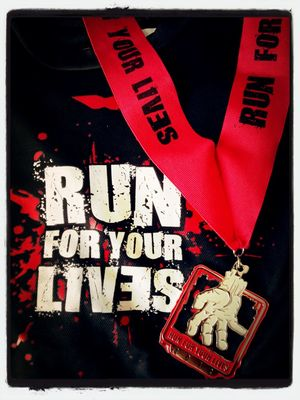 Zombie at run for lives by davidrose