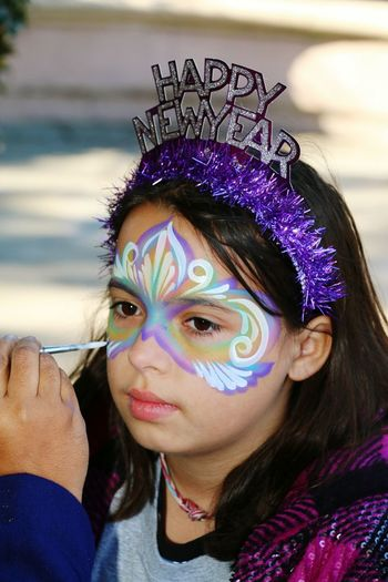 NewYear Party Time! Facepaint Only Women One Woman Only One Person Venetian Mask Adults Only One Young Woman Only Headshot Portrait Face Paint Celebration