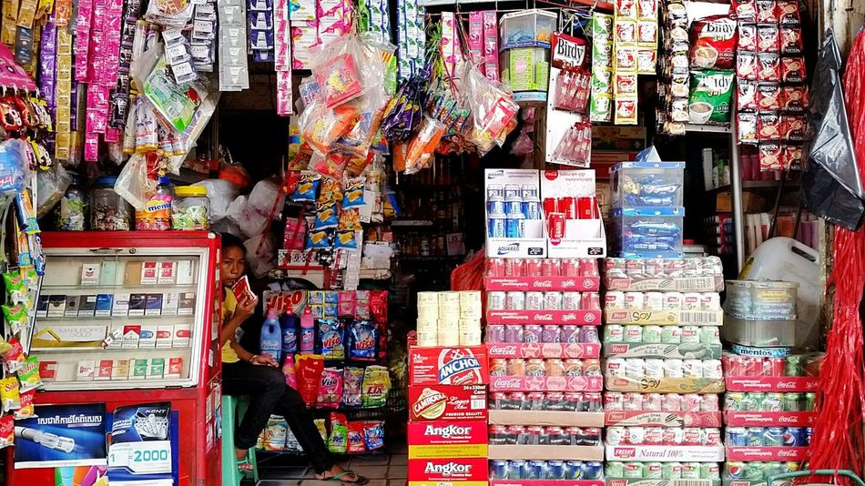 Cambodia Child Provision Shop Drinks Colourful