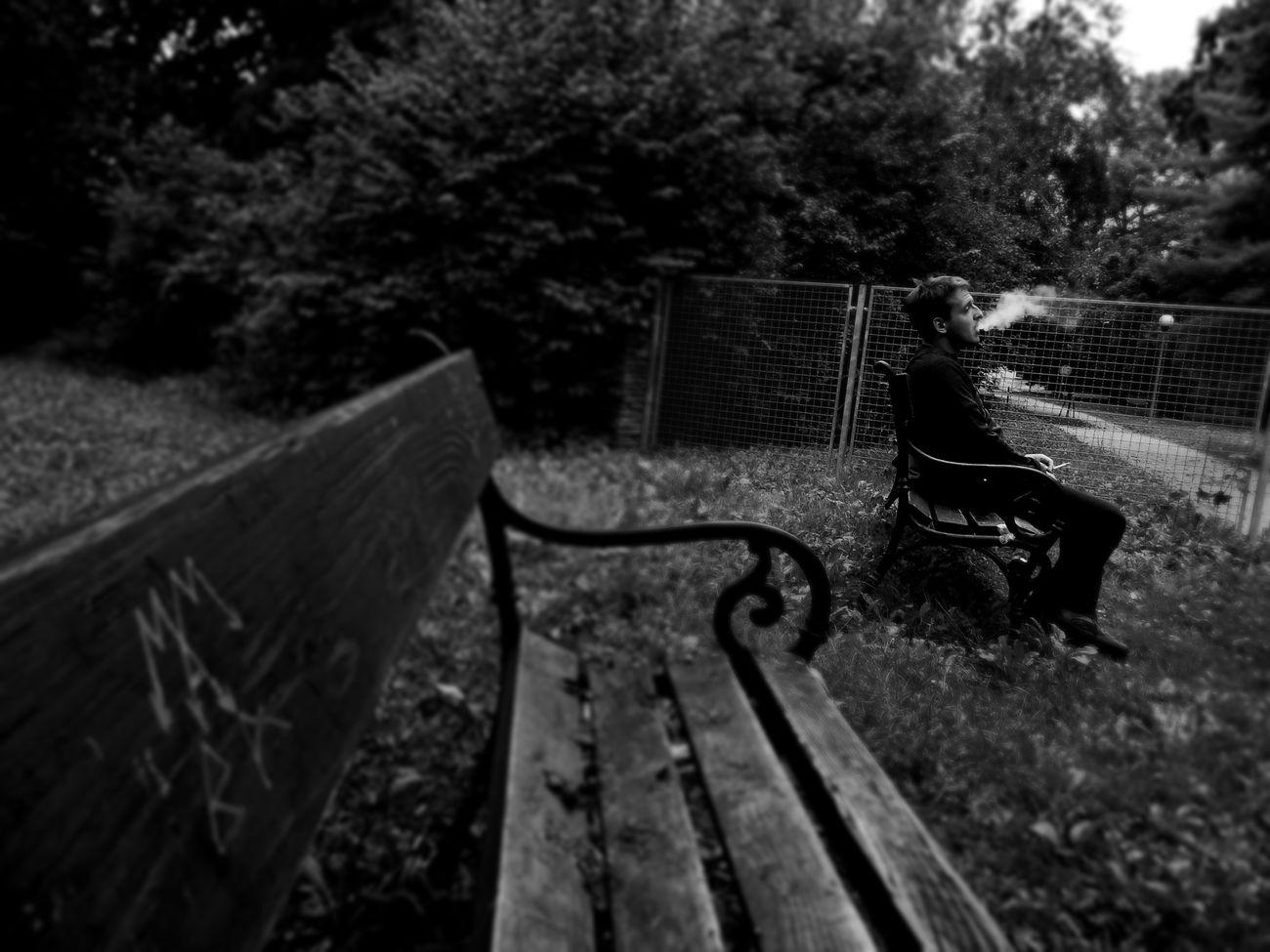 Alone Cigarette  Ex Boyfriend Never Look Back  Old Park Theme