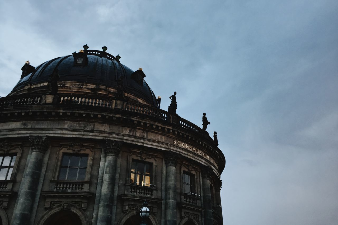 Architecture Berlin Bode Museum City Cloudy Historical Building Lowlight Ancient Building Artchitecture Building Exterior Built Structure Dusk Evening Museum Old Buildings Statues
