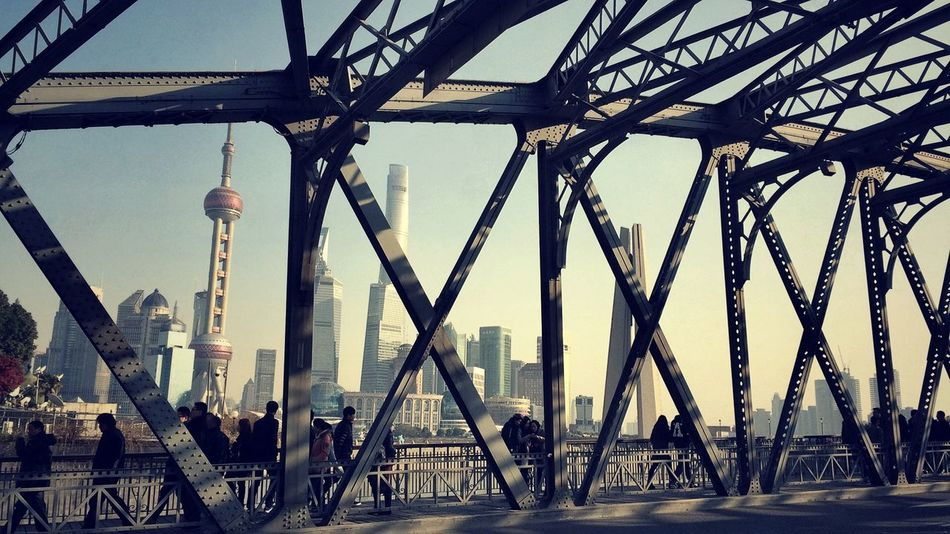 Beautiful stock photos of shanghai, Architecture, Bridge - Man Made Structure, Building Exterior, Built Structure