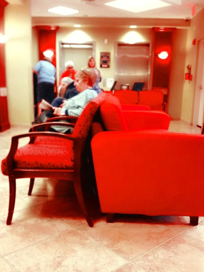 Waiting Room Doctors Office Waiting To Be Called Taking Photos Taking Pictures S. Florida USA Red Furniture