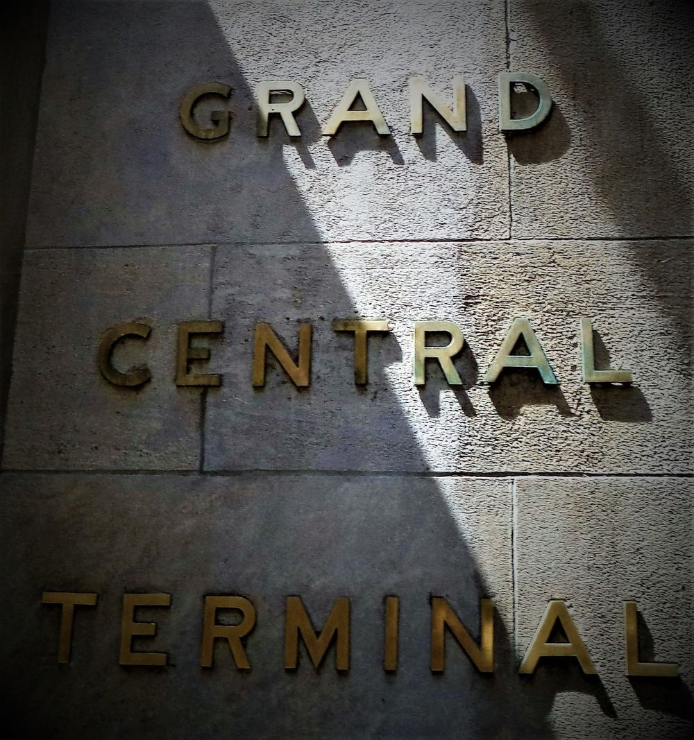 This is a shot/image of Grand Central Station NYC/ New York City station sign in (Colour) Architecture Capital Letter Close-up Communication Day Guidance Logo Nameplate New York New York City New York City Life New York City Photography New York City Photos New York City USA New York Street Photography New York ❤ New York, New York No People NYC NYC Photography Outdoors Signs Signs_collection Text Western Script
