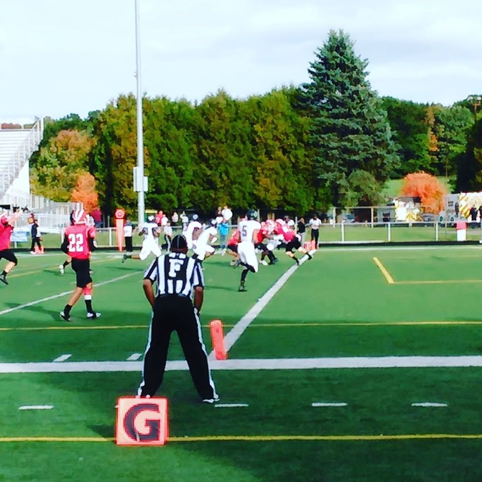 Touchdown edinboro... Sport Playing Field Competitive Sport College Football College Life Competition Alumni Homecoming Game