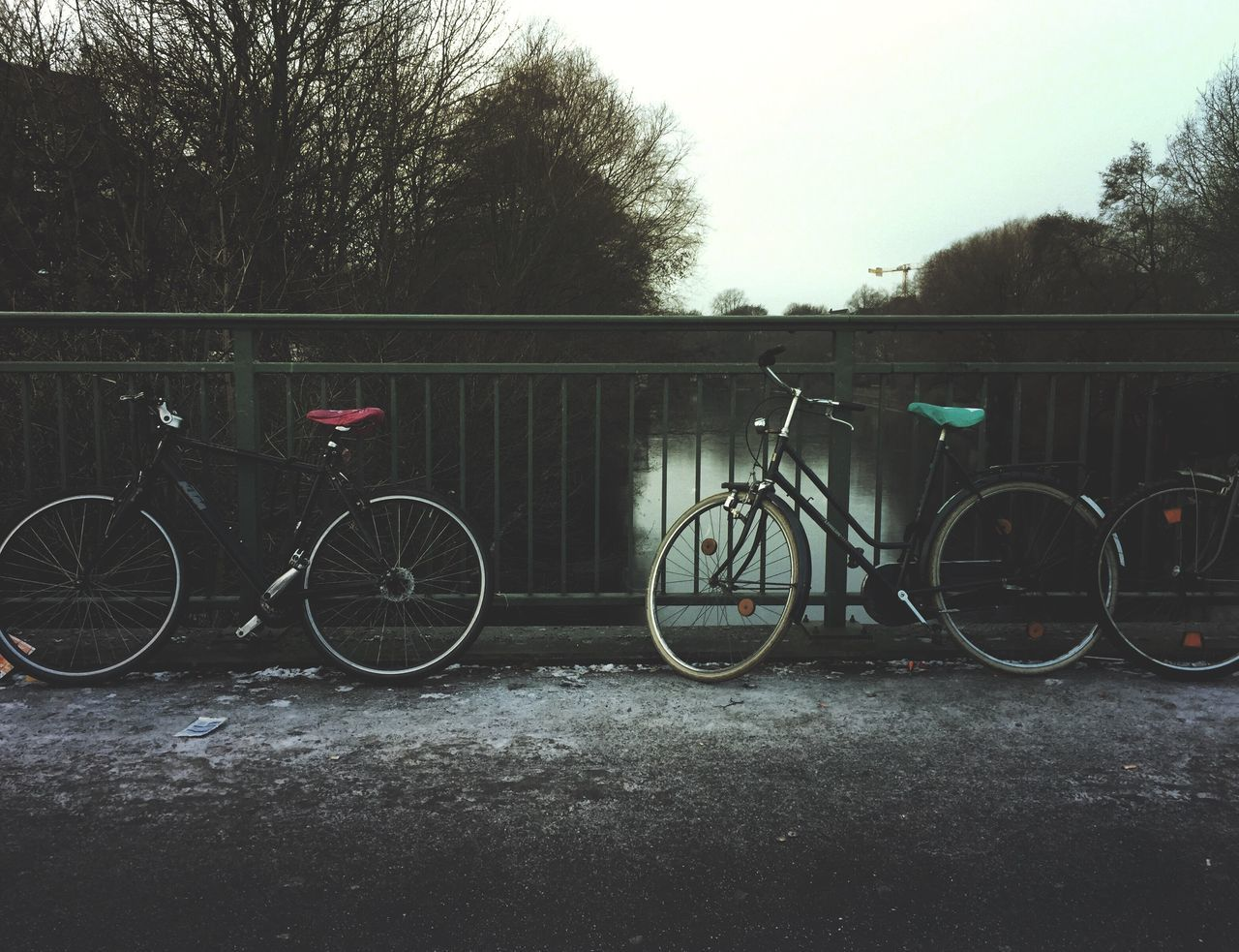 Bicycle No People Melancholic Landscapes Bicycles Canal Water Bridge Wintertime Cold Winter ❄⛄ Cold Weather Cold Days Morning Melancholic Cityscapes Melancholy