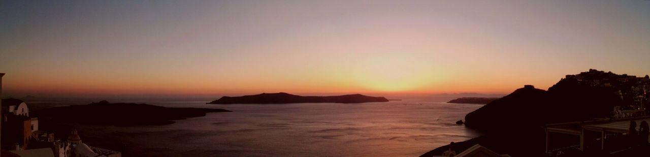 Sunset in Fira. Fira Sunset Greece Santorini Landscape Landscape_Collection Landscape_photography Volcano Sunset_collection Sea Sea And Sky Sea_collection Island Island In The Sun