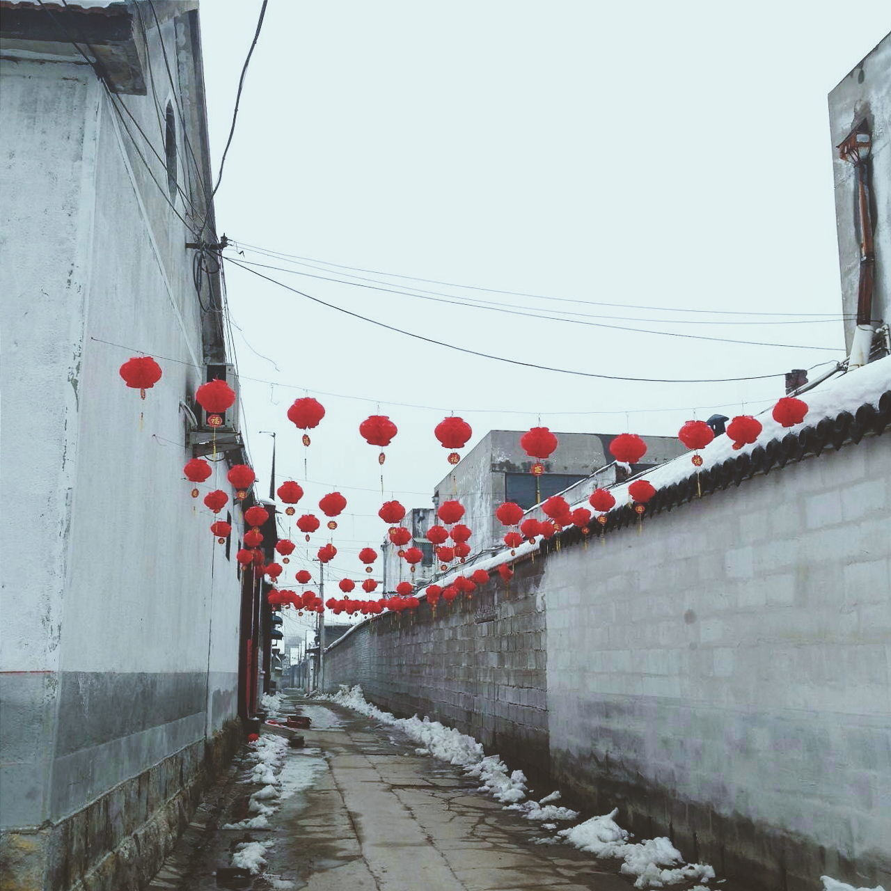Qufu, China Sky Hanging Red Chinese Lantern Outdoors Day Built Structure No People The Way Forward Architecture Flag Red Choice Hanging China Culture China Art China Dekor China. China China In My Eyes Confucious Travel Destinations Architecture Chinese Lantern Festival Celebration