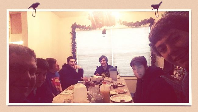 """This morning we had the """"last Breakfast"""" before Filming today."""