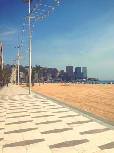 Benidorm Beach Architecture City Sky Development Walkway City Life Beach Sand Pattern Built Structure Day Benidorm