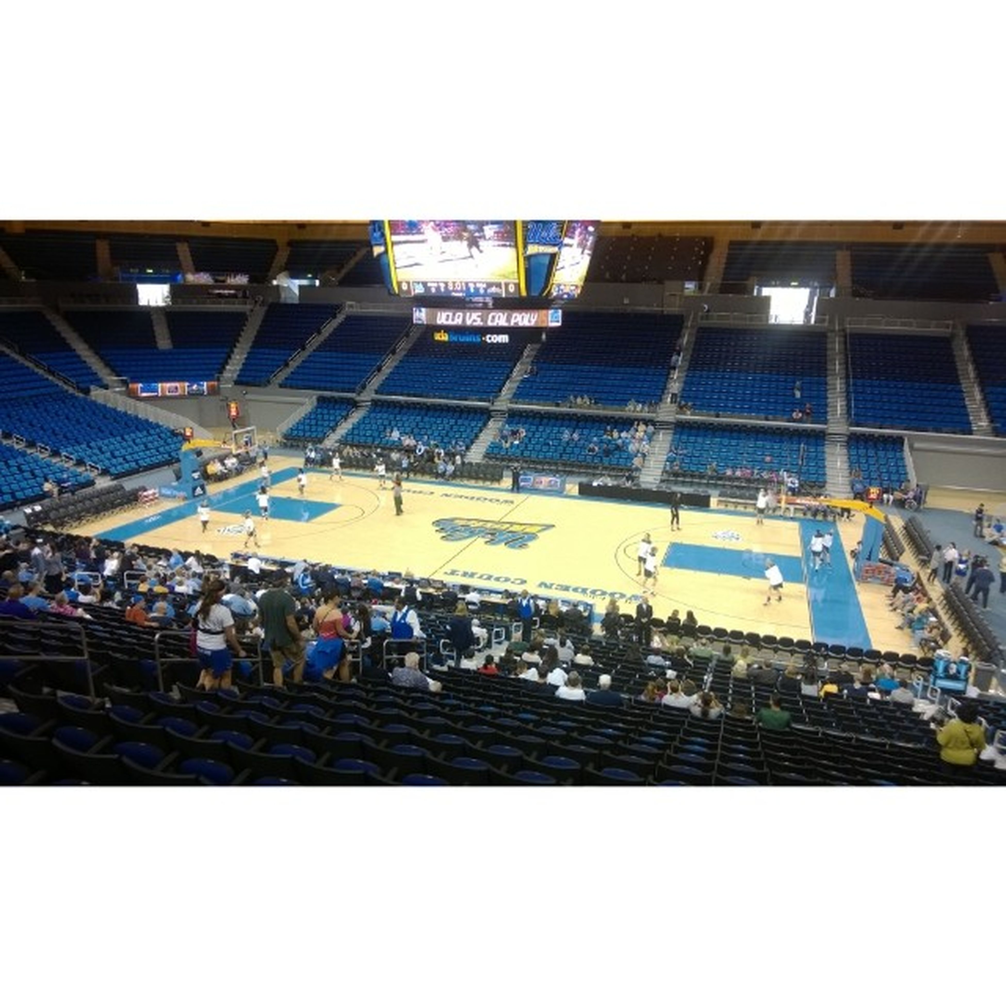 Game time! UCLA  vs Calpoly Woodencourt