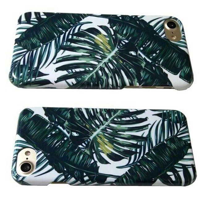 セレクトショップレトワールボーテ アイフォンケース Iphone7 White Background Leaf Green Color Vertical No People Freshness Close-up
