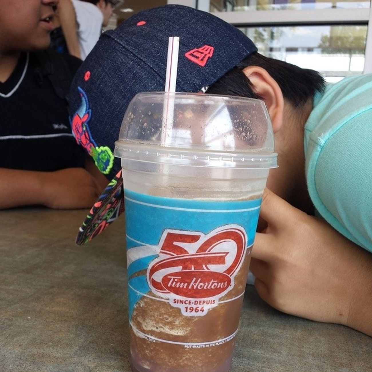 Chocolate ice capp from Tims Timhortons Icecapp Drink