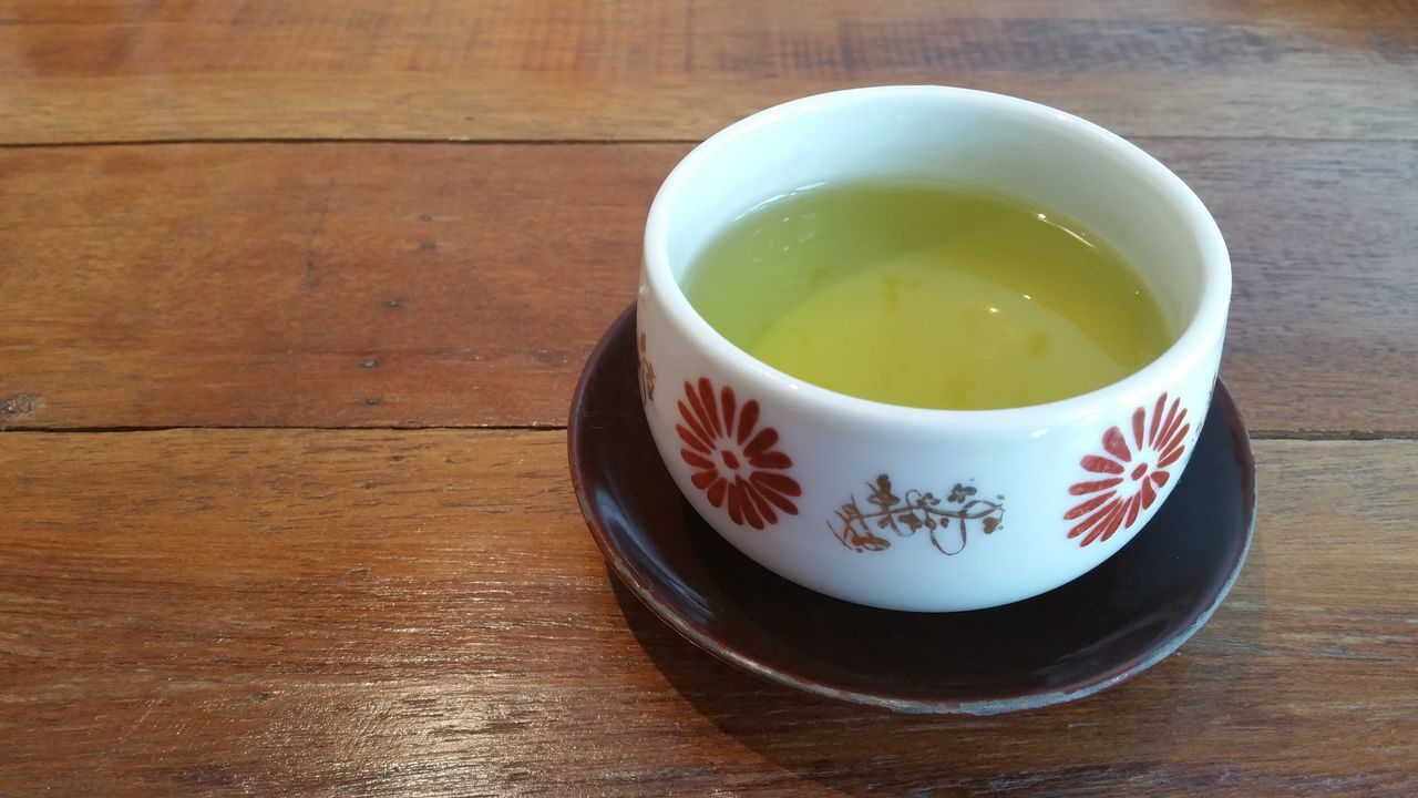 Green tea on the table. Green Tea Tea - Hot Drink Drink Tea Cup Cultures High Angle View Close-up No People Indoors  Tea Ceremony Healthy Eating Japanese Tea Cup Day