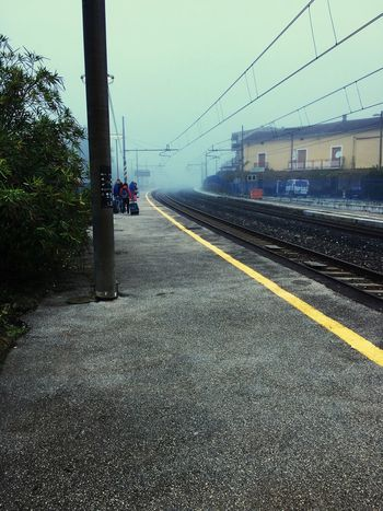 Train Railway Station Train Station Gray Sky