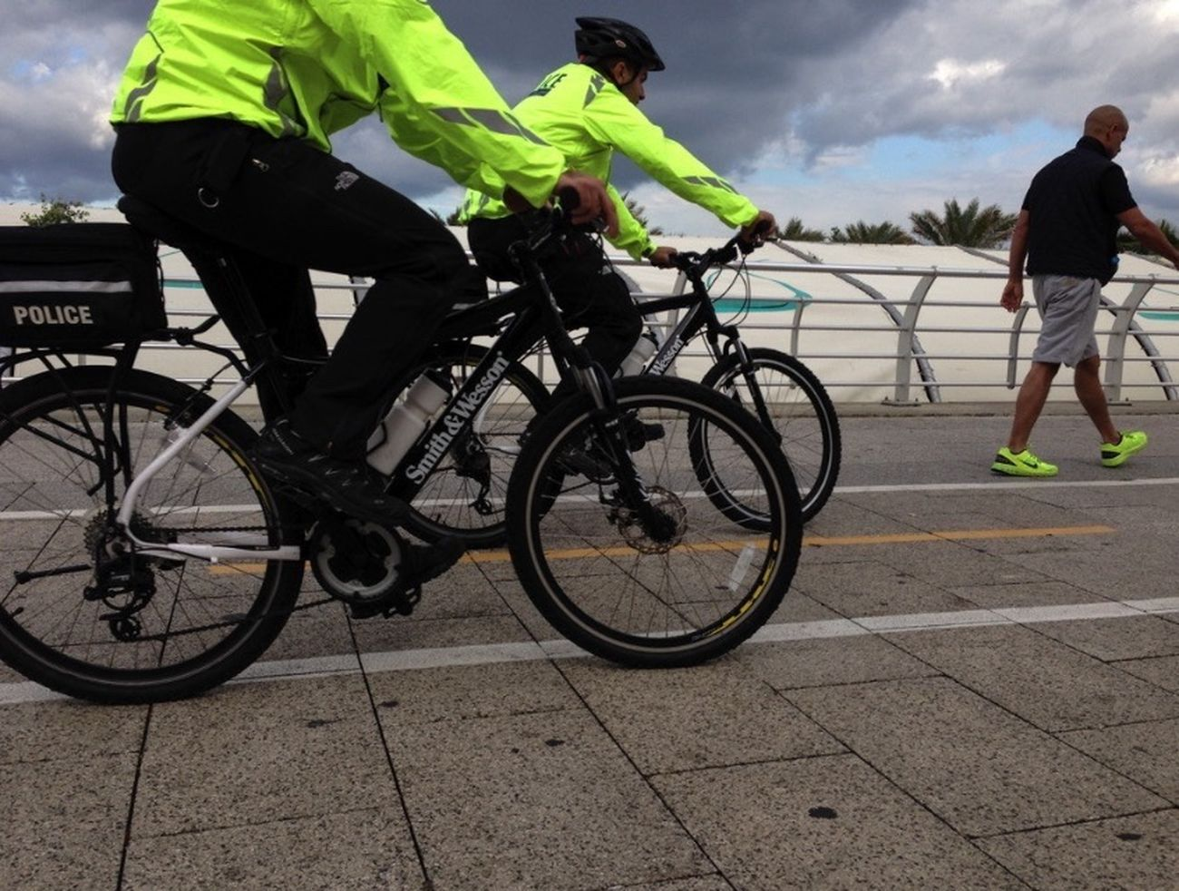 It's a bright day Police Sreetphotography Bicycle Fluo  People People And Places. People And Places