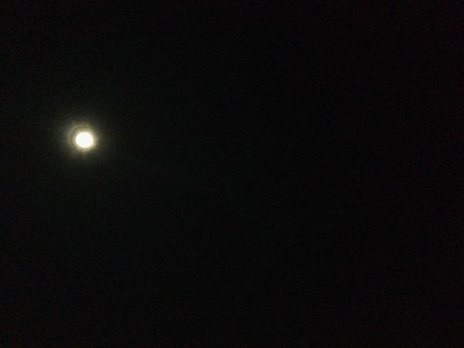Astronomy Beauty In Nature Dark Glowing Illuminated Infinity Low Angle View Moon Nature Night No People Outdoors Sky Tranquil Scene Tranquility