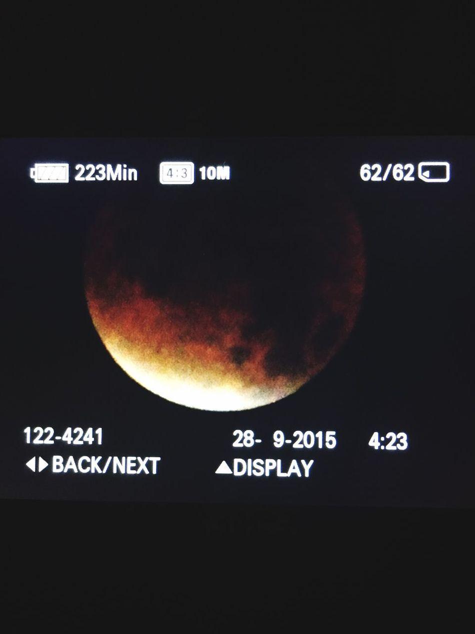 4:23 Camera Bloodmoon Full Moon Blood Moon Eclipse2015 EyeEm Gallery EyeEm Best Shots EyeEm Nature Lover Moonlight